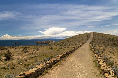 Inca treck in Isla del Sol. Titicaca, Bolivia