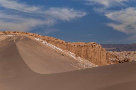 Dunes and rocks in Valle de la Luna, Atacama, Chile