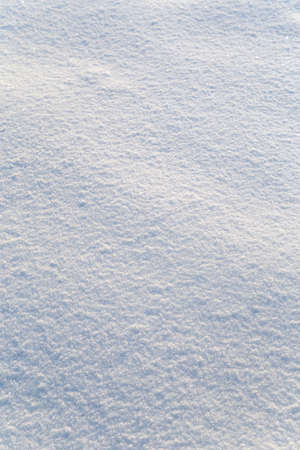 Background of white snow sparkling in the sun. Shallow depth of field