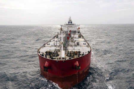 De tanker in de hoge zee