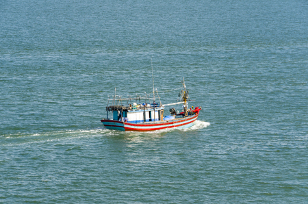 The Vietnamese fishing boat in the high sea