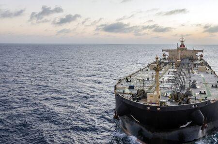 The oil tanker in the high sea Banco de Imagens