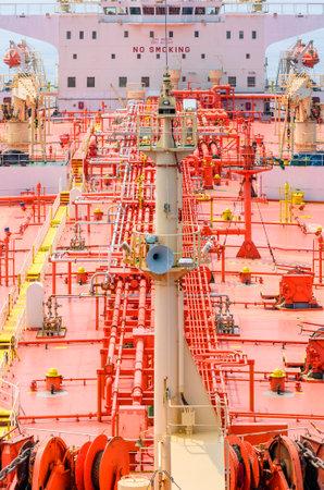Tanker deck Standard-Bild