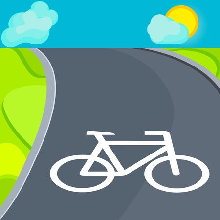 fietspad wandelingen in de natuur