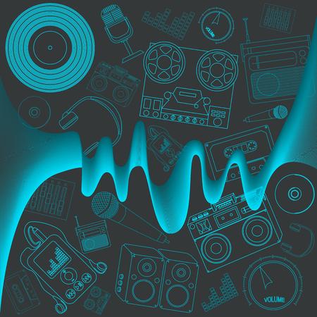 music background: simple music background Illustration
