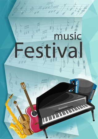 cover, music festival, background