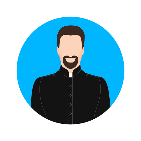 believer: the image of the priest as an icon Illustration