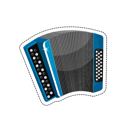 overtone: Accordions are a family of box-shaped musical instruments Illustration