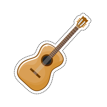 The guitar is a musical instrument classified as a string instrument
