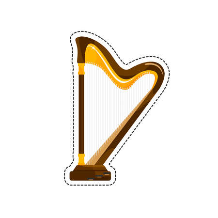 stringed: The harp is a stringed musical instrument