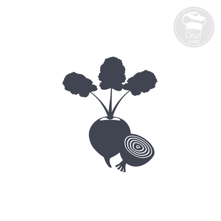 indicating: White background shows an icon indicating beet