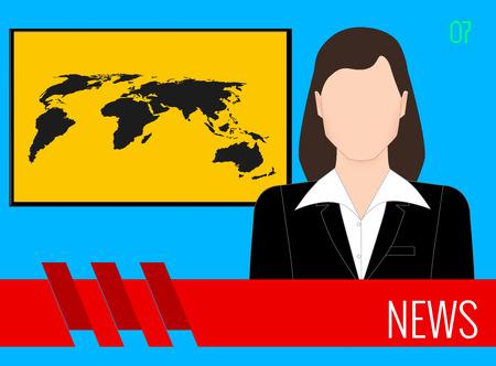 News TV screen