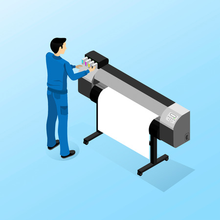 Working machine for large format printing