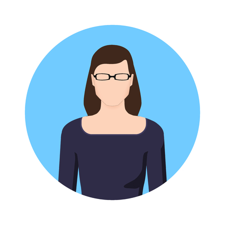 school class: the teacher, Woman icon Illustration