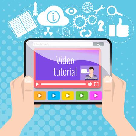 tutorial: video tutorial Illustration