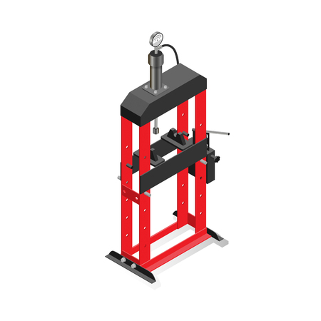 Hydraulic press, equipment for maintenance and repair of cars, garage equipment.