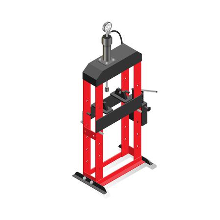 Hydraulic press, equipment for maintenance and repair of cars, garage equipment.