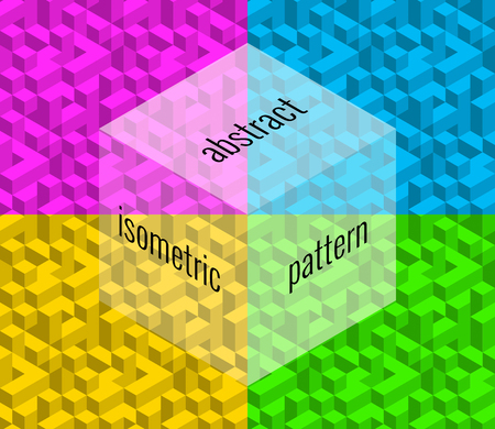 Abstract isometric pattern, creative background Illustration