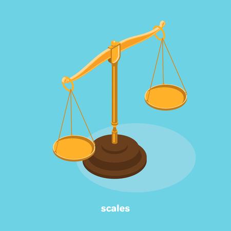 scale icon, isometric image
