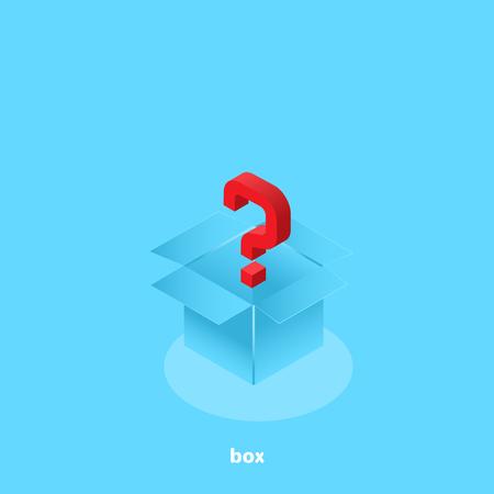 question mark in an open box, isometric image Ilustracje wektorowe
