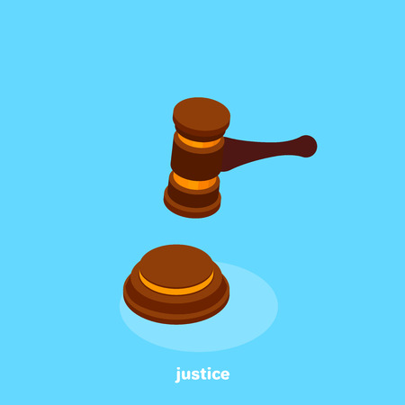 justice and auction of attributes, isometric image