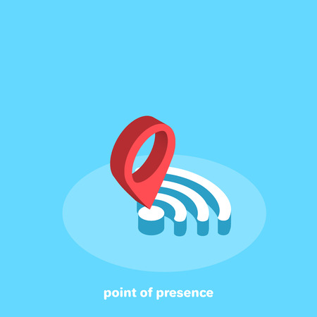 access point, modern smartphone  wireless icon, isometric image