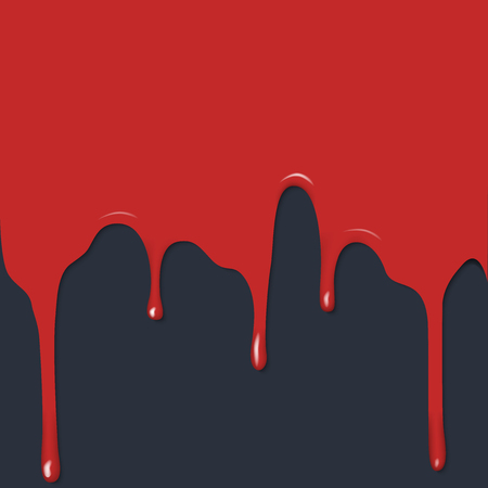 flat image, red drips on a black background, paint or blood Illustration