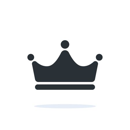 flat linear vector image on a white background, crown icon with a shadow under it Ilustração