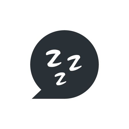 flat vector image on white background, bubble icon with letter z, sleep icon
