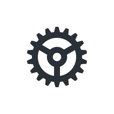 flat vector image on white background, gear icon Ilustração