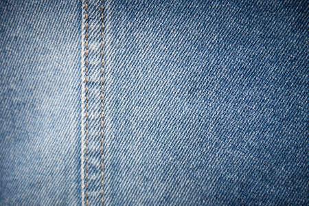 seam: Blue denim texture background with seam Stock Photo