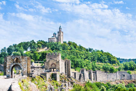 veliko: Tsarevets fortress and the Patriarchal church in Veliko Tarnovo, Bulgaria.