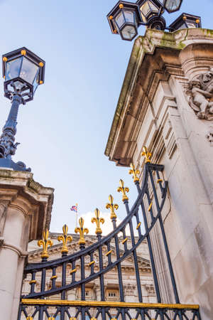 A detail from Buckingham palace ornated fence. 報道画像