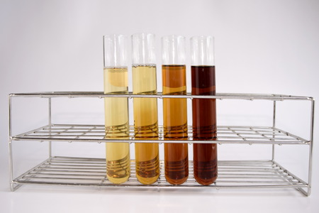 chemically: Diluted reagent in test tube