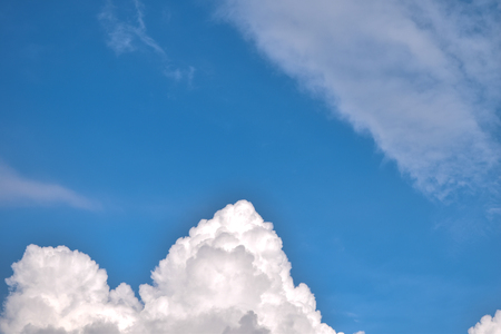 Blue Sky with White Cloud Banco de Imagens