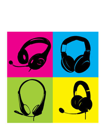 gansta: silhouette VECTOR HEADPHONE Illustration
