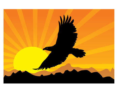 gansta: BIRD silhouette Illustration
