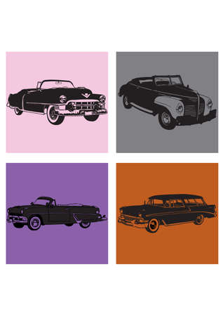 BEAUTIFUL TRANSPORTATION silhouette Vector