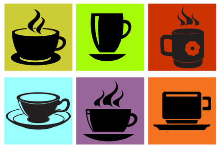 cup silhouettes se Illustration