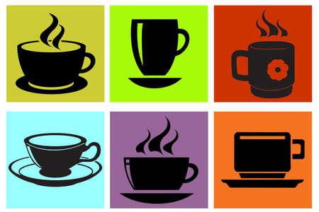 gansta: cup silhouettes se Illustration