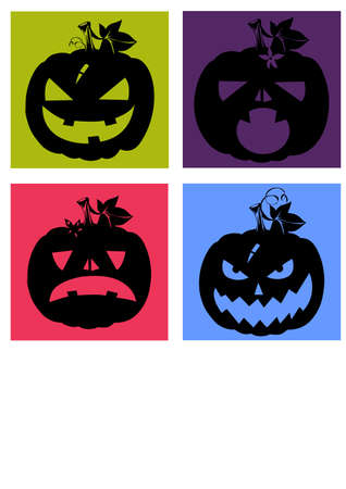 gansta: silhouette halloween Illustration