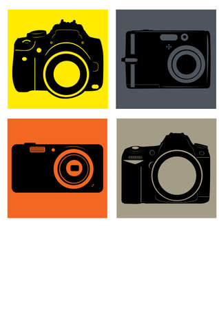 silhouette photography camera Vector