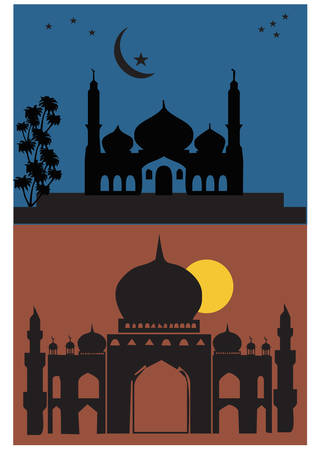 gansta: praying silhouette Illustration