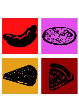 gansta: silhouette of junk food