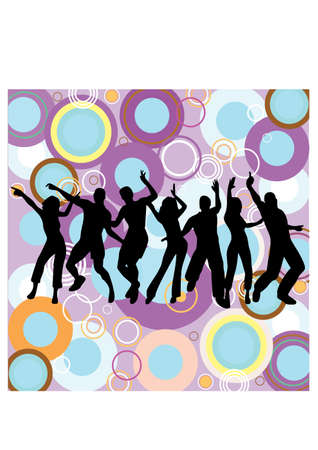 silhouette of a happy dance Vector