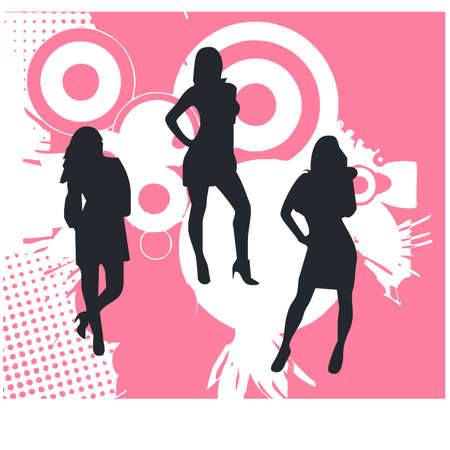 silhouette of beautiful woman Stock Vector - 22712392
