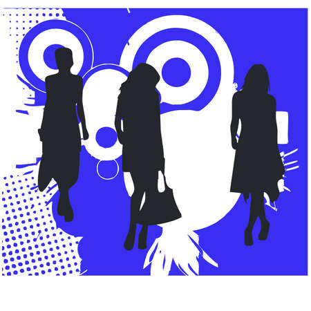 gansta: feminine silhouette Illustration