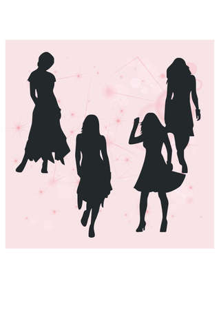 feminine silhouette career Vector