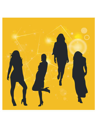 silhouette of a career woman Vector