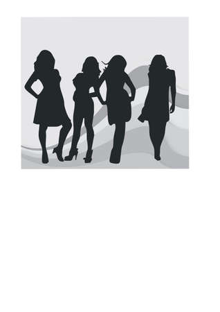 career woman silhouette Vector